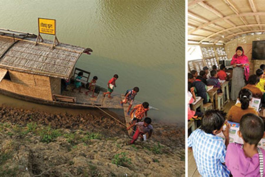 Las Escuelas barco de Bangladesh o cómo innovar por el bien común.